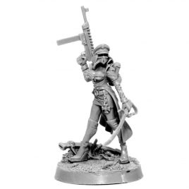 IMPERIAL FEMALE COMMISSAR WITH LASER PISTOL