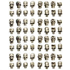 HUMAN SKULLS IN 28MM SCALE (64U)