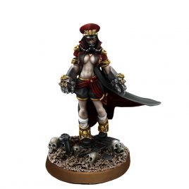 IMPERIAL SOLIDER FEMALE COMMISSAR WITH FISTS OF POWER (PIN-UP)