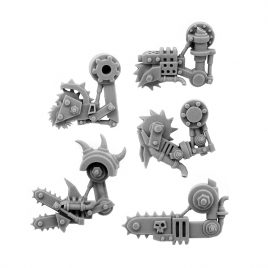 5 LEFT CYBORG ORK CONVERSION BITS BIONIC BUZZSAW ARM 28MM