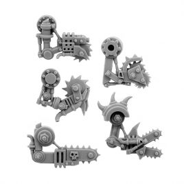 5 RIGHT CYBORG ORK CONVERSION BITS BIONIC BUZZSAW ARM 28MM