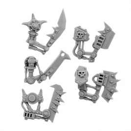 5  RIGHT CYBORG ORK CONVERSION BITS BIONIC CHOPPA ARM 28MM