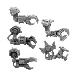 5 RIGHT CYBORG ORK CONVERSION BITS BIONIC CLAW ARM  28MM