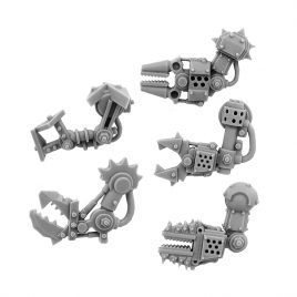 5 LEFT CYBORG ORK CONVERSION BITS BIONIC FIST ARM 28MM