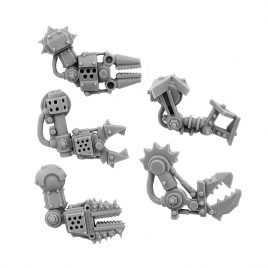 5 RIGHT CYBORG ORK CONVERSION BITS BIONIC FIST ARM 28MM