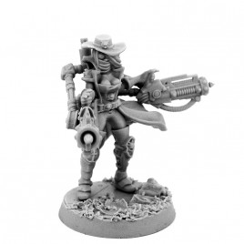 HERESY HUNTER FEMALE INQUISITOR WITH SERVO HEAVY BEAMERS