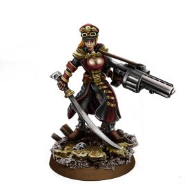 IMPERIAL FEMALE COMMISSAR WITH GRENADE LAUNCHER