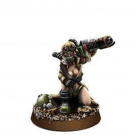 IMPERIAL SOLDIER PIN-UP FEMALE WITH FLAMER