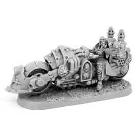 HERESY HUNTER FEMALE INQUISITOR WITH DEATHCRUISER BIKE