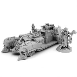 HERESY HUNTER FEMALE MECHANICUM INQUISITOR WITH ARMORED CAR