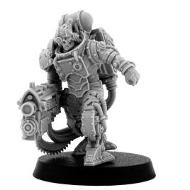 MECHANIC ADEPT BATTLE SERVITOR WITH HEAVY BOLTGUN (LM)