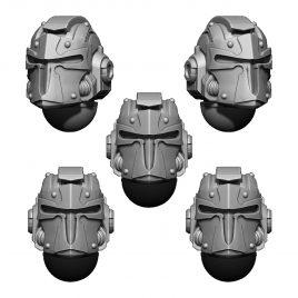 IMPERIAL TEMPLAR HELMET HEADS SET (5U) V2