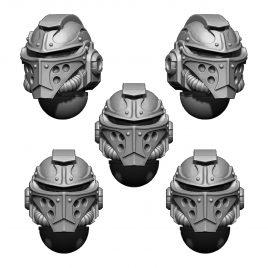 IMPERIAL TEMPLAR HELMET HEADS SET (5U) V3