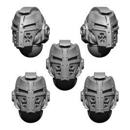 IMPERIAL TEMPLAR HELMET HEADS SET (5U) V4