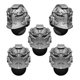 IMPERIAL TEMPLAR HELMET HEADS SET (5U) V5